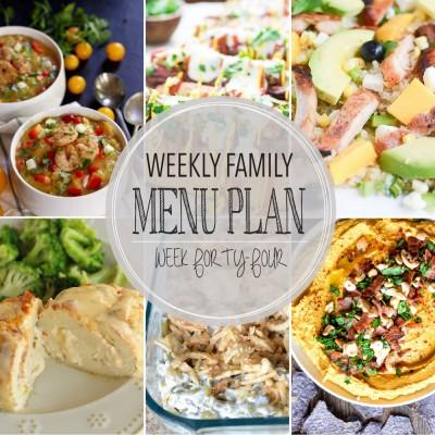 Weekly family menu plan 44