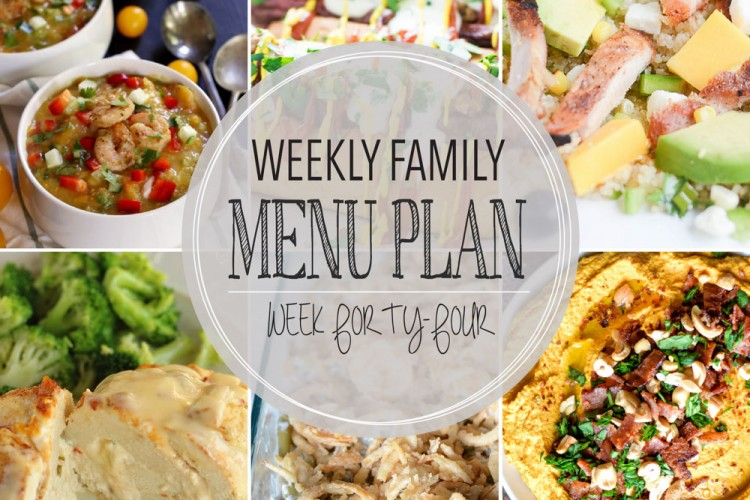 Weekly family menu plan 44