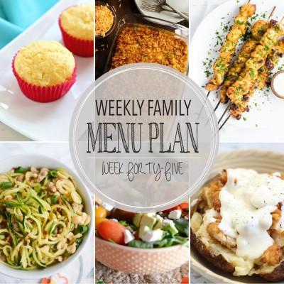 Weekly family menu plan 45