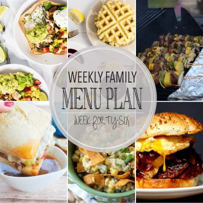 Weekly family menu plan 46