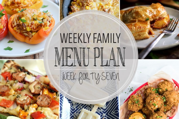 Weekly family menu plan 47