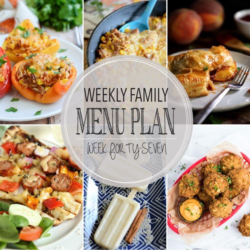 Weekly family menu plan 47