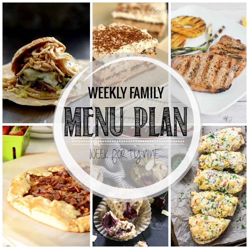 Weekly family menu plan 49