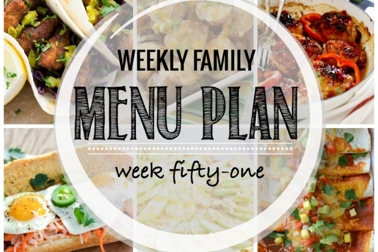 Weekly family menu plan 51