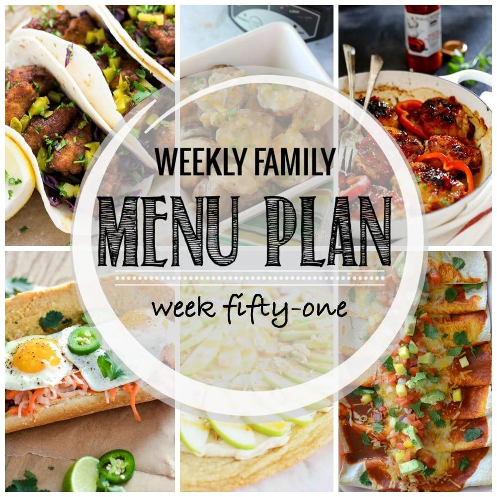 Weekly family menu plan 51