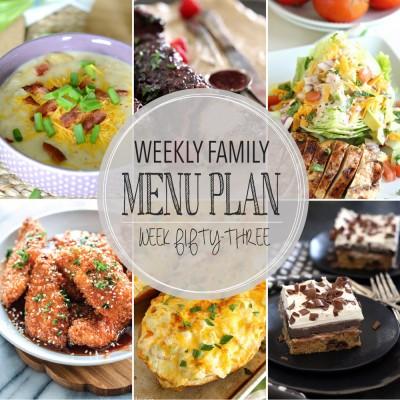 Weekly family menu plan 53