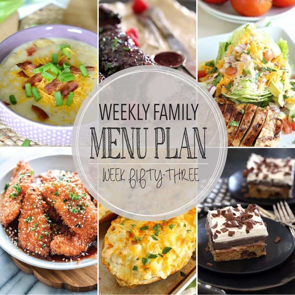 Weekly family menu plan 53