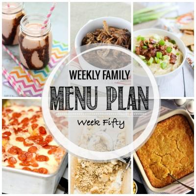 Weekly family menu plan 50