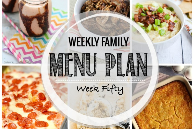 Weekly family menu plan 50