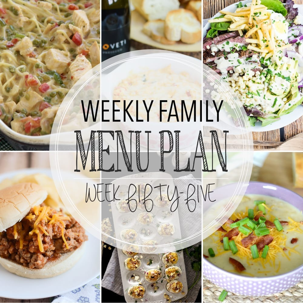 Weekly family menu plan 55