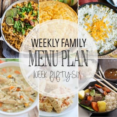 Weekly family menu plan 56