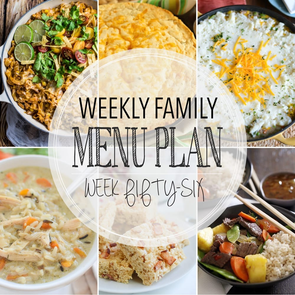 Weekly family menu plan 56