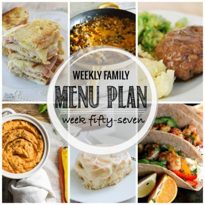Weekly family menu plan 57