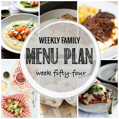Weekly family menu plan 54