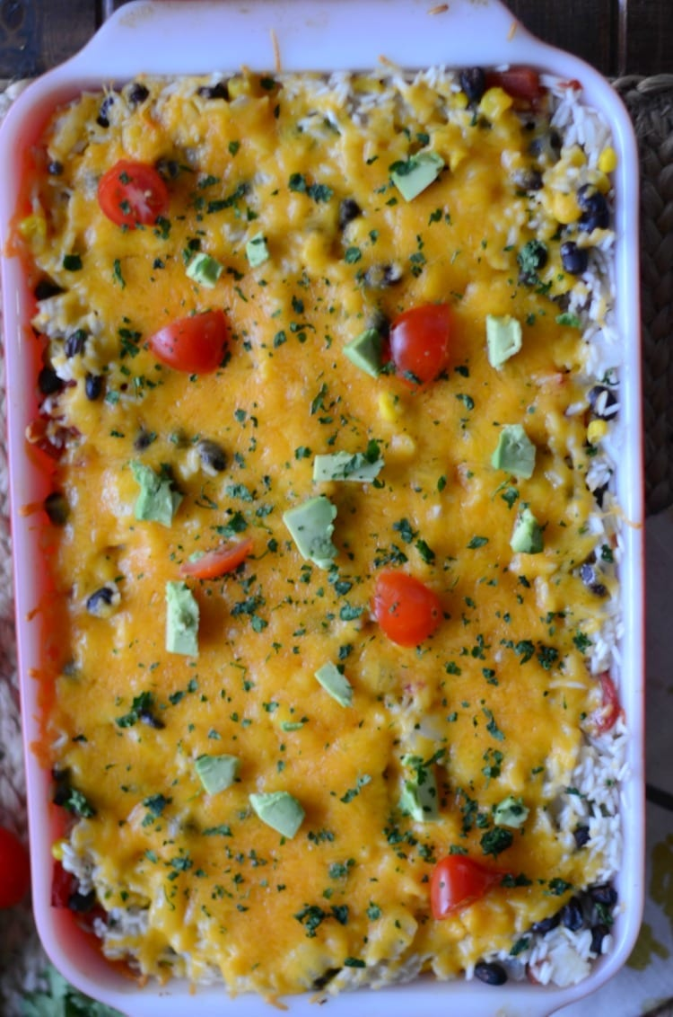cheesy-chicken-taco-and-rice-casserole