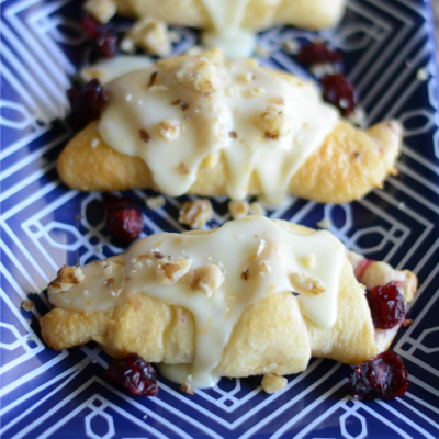 Cranberry orange crescents