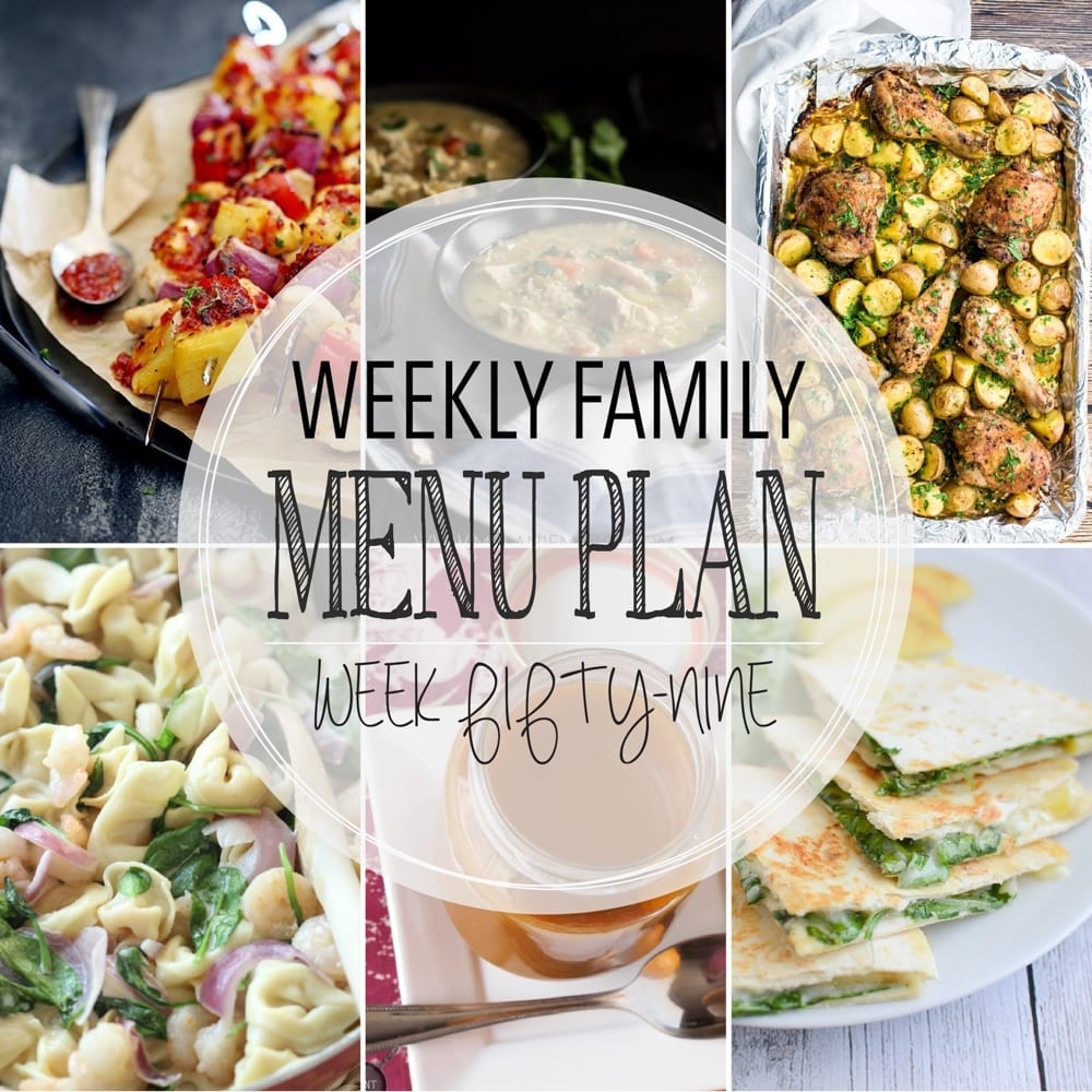 Weekly family menu plan 59
