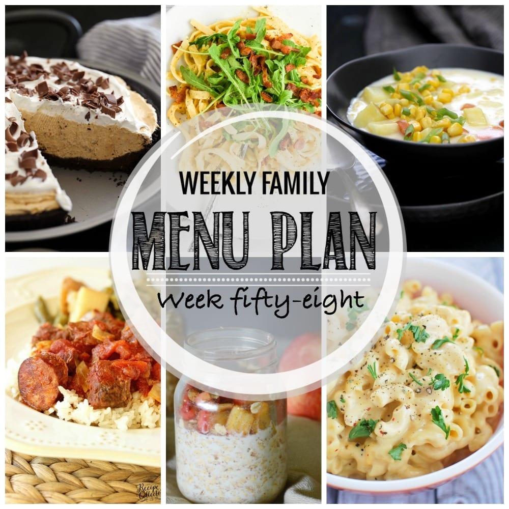 Weekly family menu plan 58
