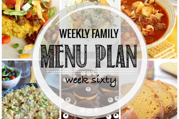 Weekly family meal plan 60