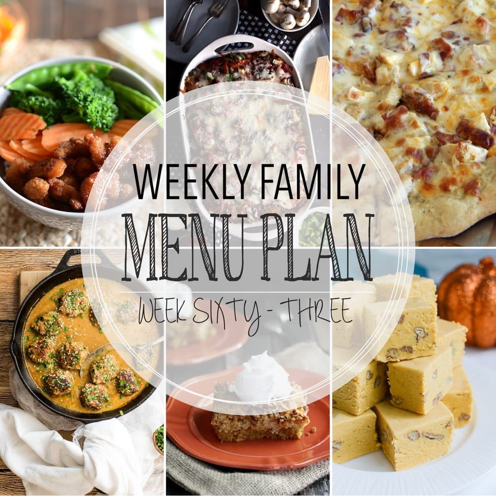 Weekly family menu plan 63