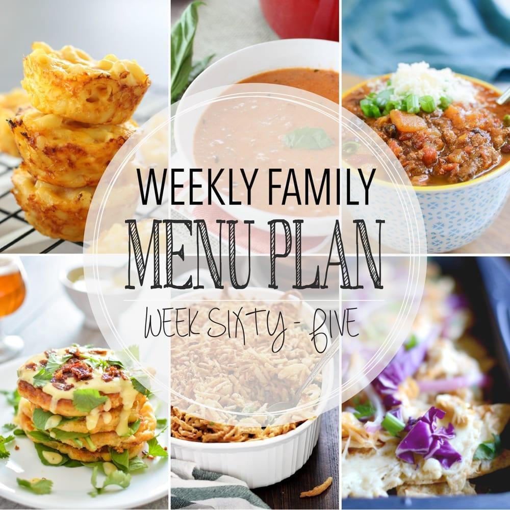 Weekly family menu plan 65