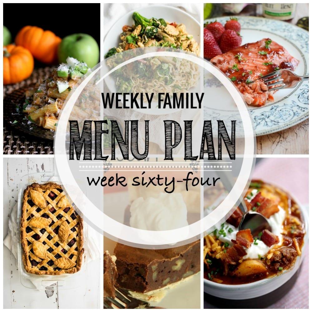 Weekly family menu plan 64