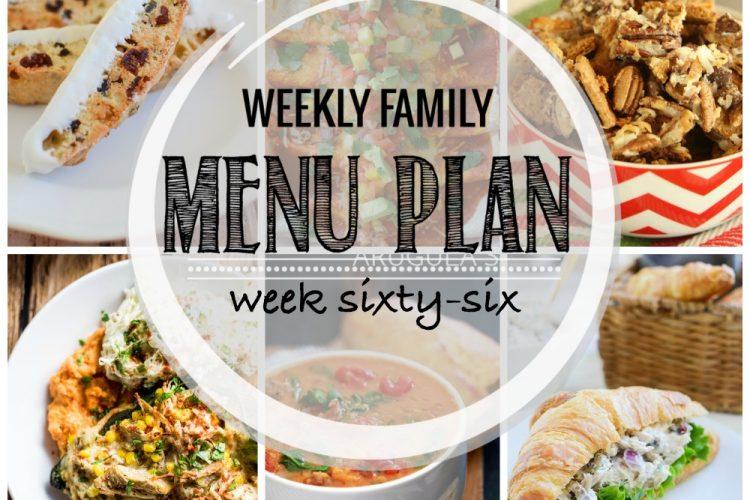 Weekly family mnu plan 66