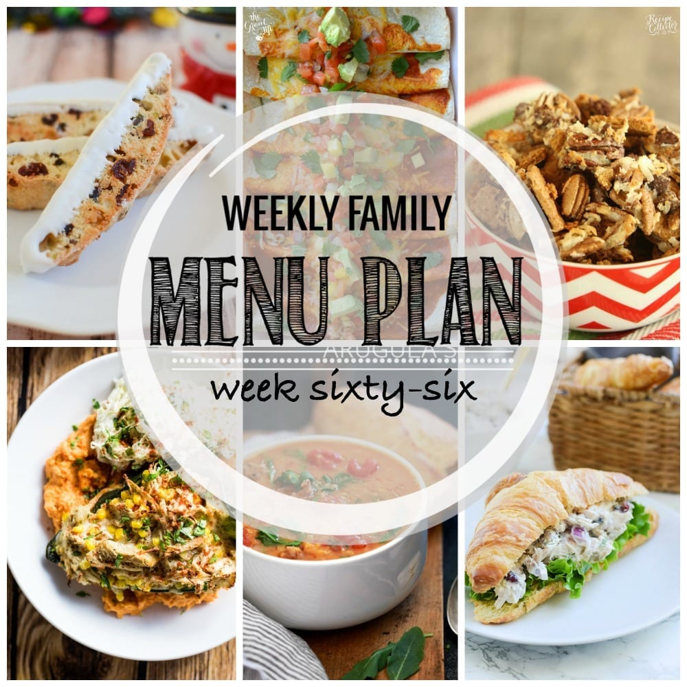 Weekly family menu plan 66