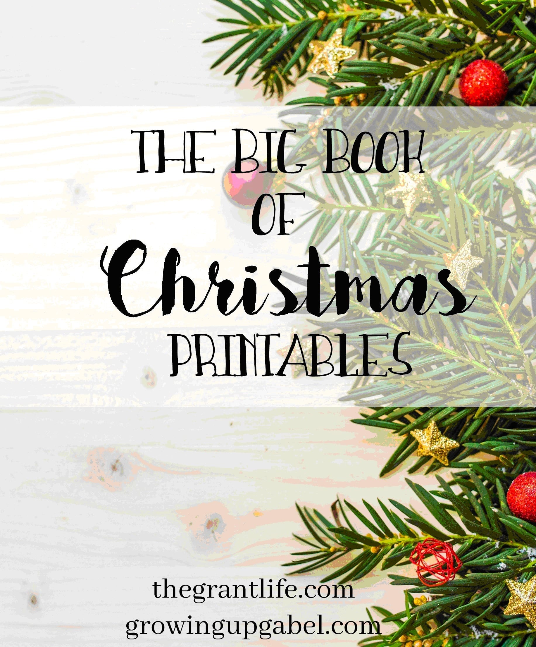 Big book of Christmas printables