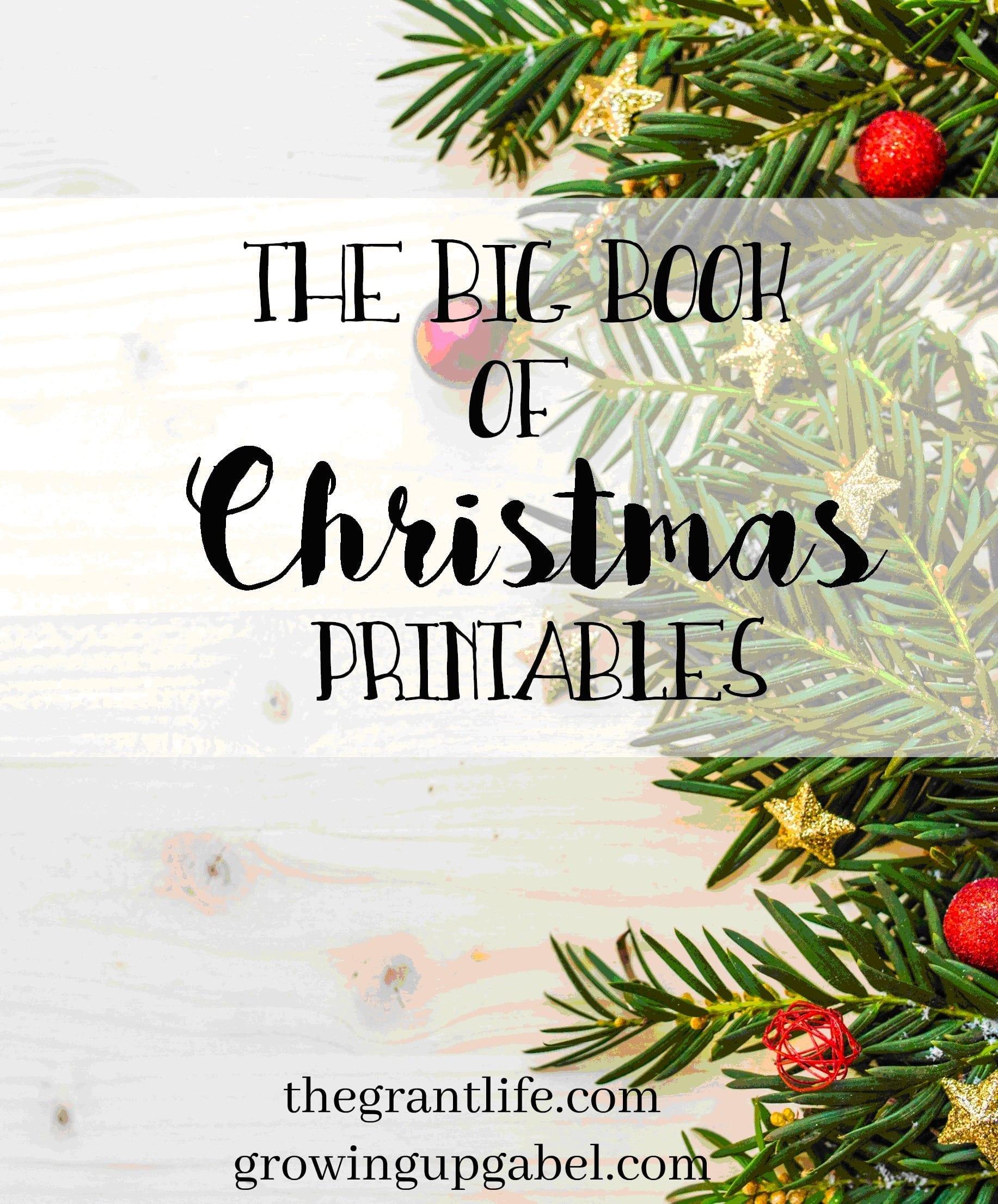 Big book of Christmas printables
