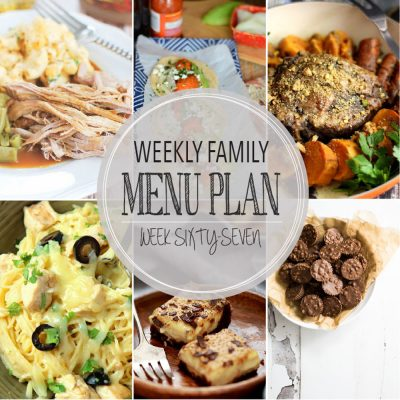Weekly family menu plan 67