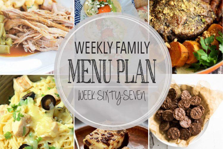 Weekly family menu plan 67