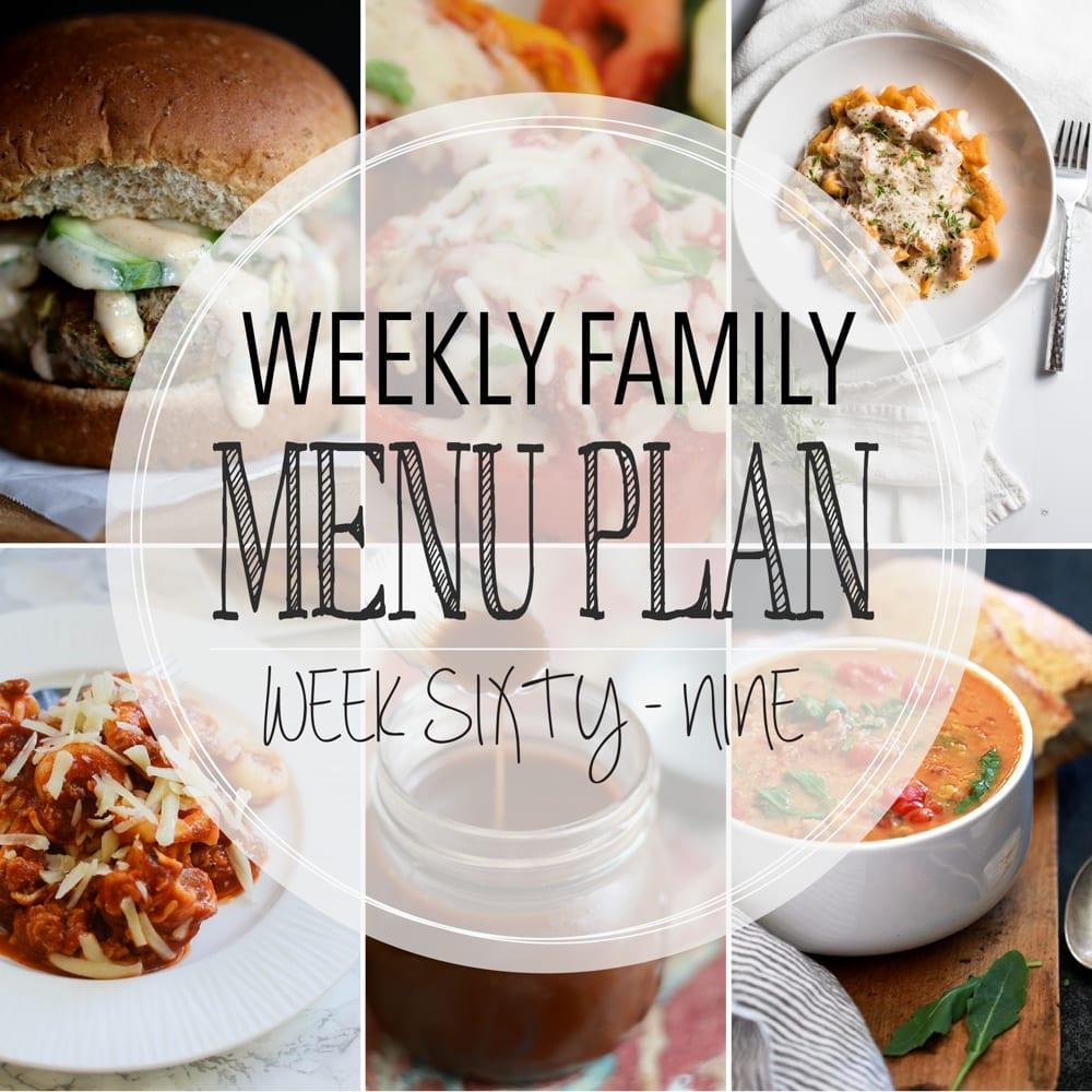 Weekly family menu plan 69