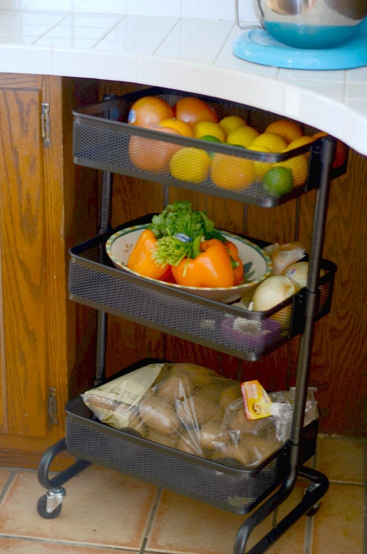 Easy fruit and vegetable organization ideas