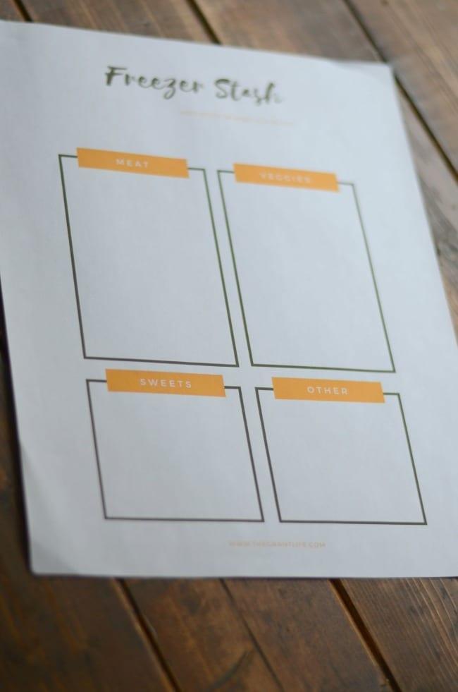 Freezer organization idea