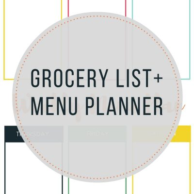 Grocery list + menu planner