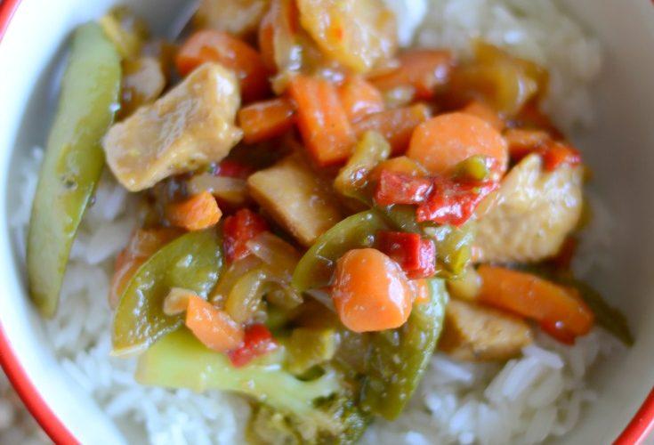 Easy chicken stir-fry dinner