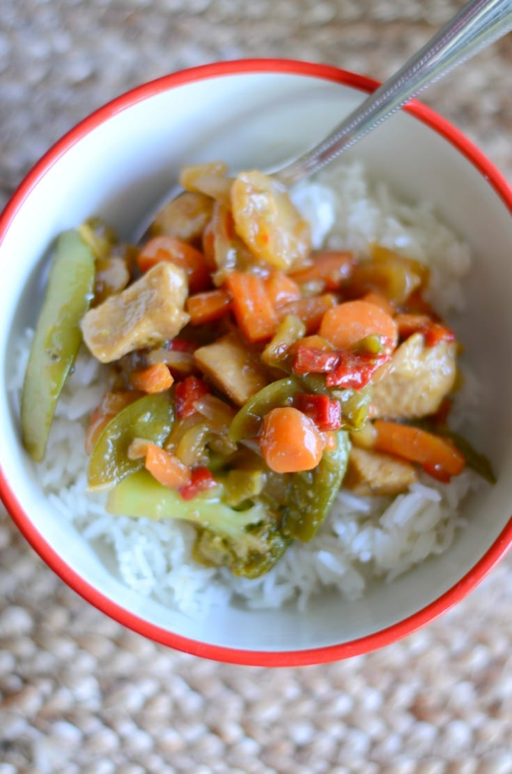 Easy chicken stir-fry dinner
