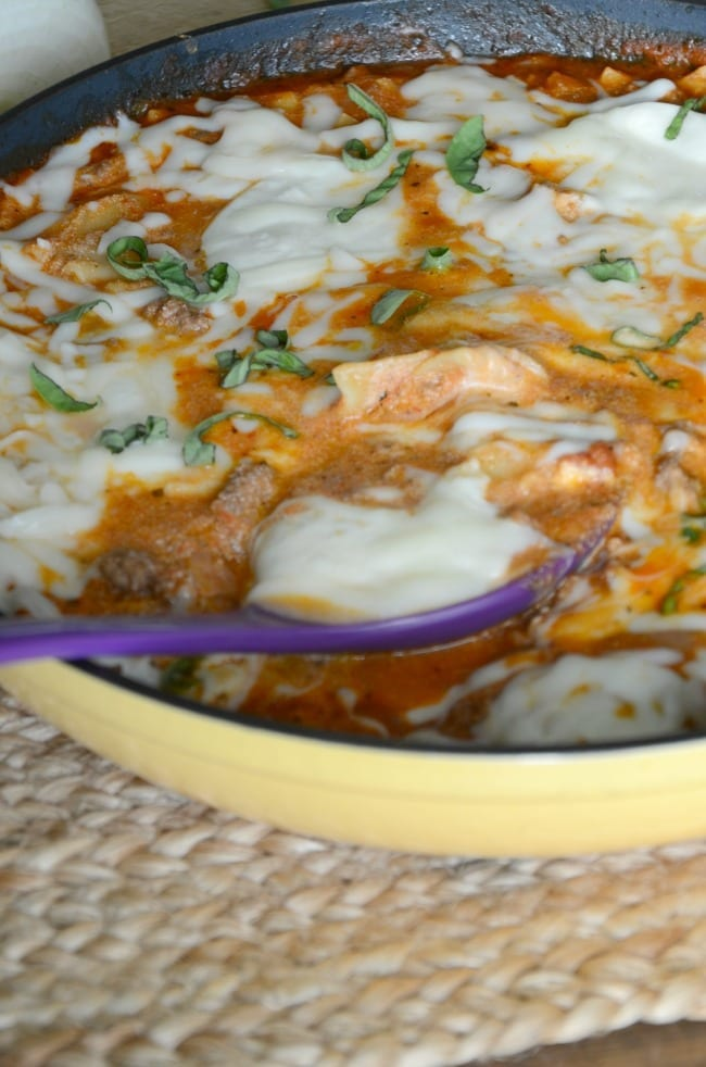skillet lasagna recipe made all in one pan