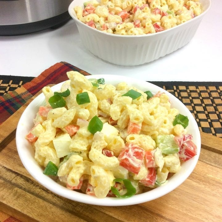 Easy instant pot macaroni salad recipe
