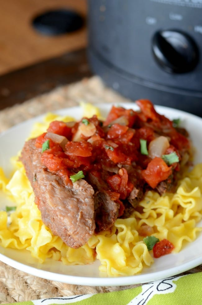 Crock pot Italian Swiss steak recipe