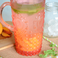 Apricot Mint Infused Water