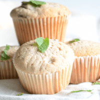Blackberry Mint Pound Cake Muffins
