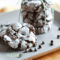 Double Chocolate Mint Crinkle Cookies