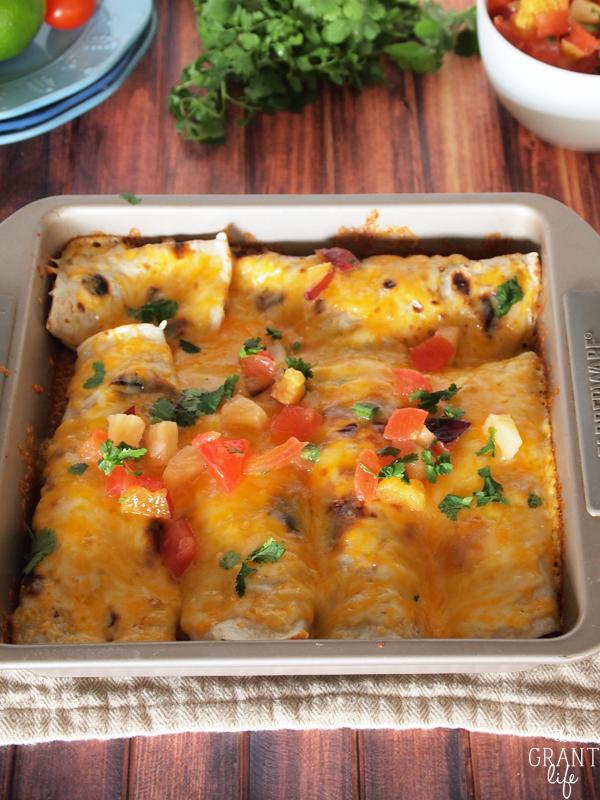 Crock pot roast enchiladas