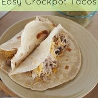 Easy CrockPot Chicken Tacos