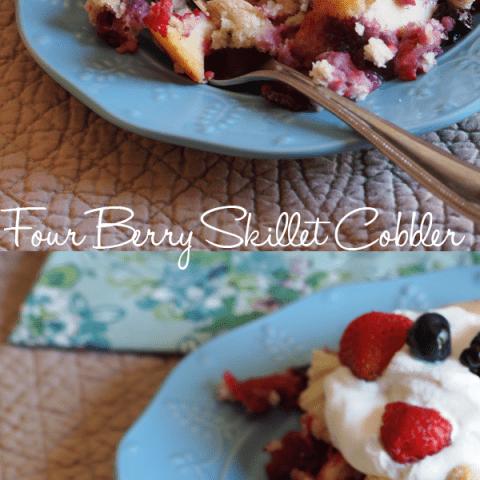 Four Berry Skillet Cobbler