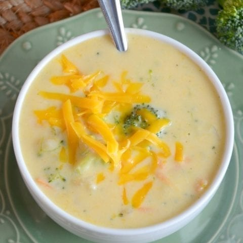 Gluten Free Broccoli Cheese Soup