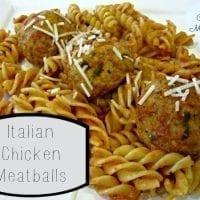 Baked Italian Chicken Meatballs