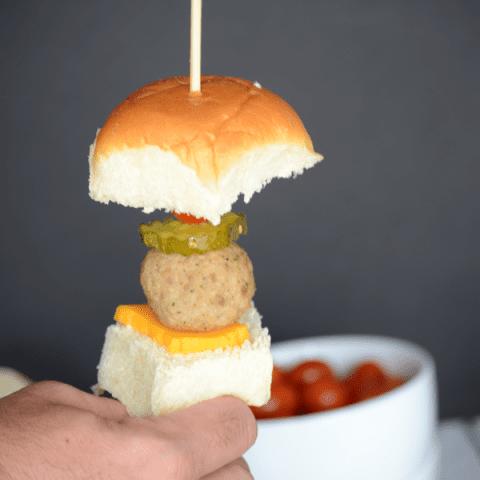 Meatball Slider Kebabs